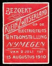 Netherlands Poster Stamp - 1910 Nijmegen Electricity Exposition - Red