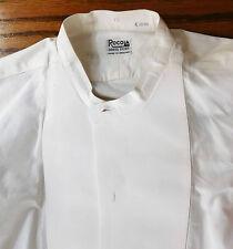 Vintage white starched dress shirt size 15 Rocola mens evening wear 1930s 1950s
