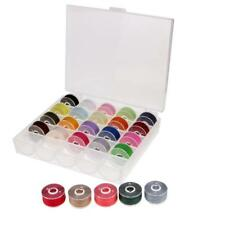 25Pcs Colorful Polyester Sewing Machine Thread and Bobbins with Plastic Case