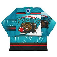 Vtg 1994 Very Rare NBA Vancouver Grizzlies Starter Hockey Jersey. Mens Large.