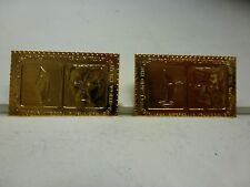 JOHN F KENNEDY STAMP COMMEMORATIVE PRESIDENTIAL STAMP GOLD PLATED REPLICA STAMP