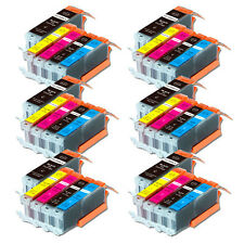 30 PK Printer Ink Cartridge for Canon PGI-250 CLI-251 Pixma MG6620 MX922 MX722