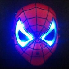SPIDERMAN LED GLOWING RED MASK KIDS COSPLAY HOMECOMING PARTY COSTUME