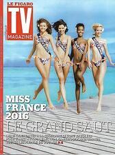 TV MAGAZINE N°22189 13 DECEMBRE 2015 MISS FRANCE 2016/ PERNAUT/CHIRAC&MITTERRAND