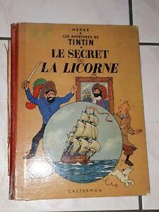 Tintin Le Secret De La Licorne - Edition 11b24 1959 Rare