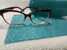 7cf7d9f6072 Zenni Optical Eyeglasses 206318 Cat Eye Retro Ruby Red Tortoiseshel Case    Cloth