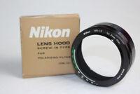 Nikon Lens Hood Screw In Type For Polarizing Filter HN-12 New Open Box