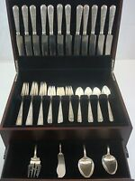 Lady Sterling by Weidlich Sterling Silver Dinner Flatware Set Service 50 Pieces