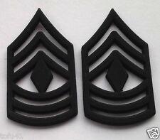 1 PAIR (2) US ARMY RANK E8 1ST SGT Military Veteran Hat / Collar Pins P12756 EE
