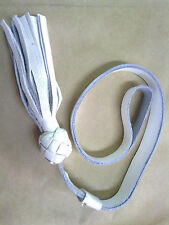 LEATHER white sword knot
