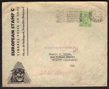 "BELGIUM 1946 UNUSUAL COVER ""IMPRIMES"" BRUSSELS TO"