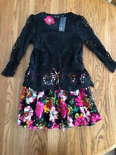 Asian Floral Party  Dress Medium Size NWT