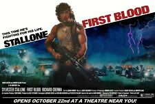 """FIRST BLOOD repro UK subway cinema quad poster 30x40"""" Sylvester Stallone FREE PP"""