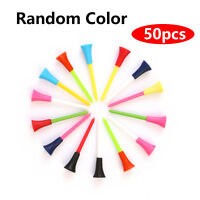 50 Pack Golf Tees Multi-colored 3-1/4 Inch Durable Rubber Cushion Top Golf