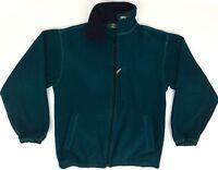 Orvis Men's Size Small S 🔥 Vintage Blue Full Zip Fleece Jacket/Coat/Liner VTG