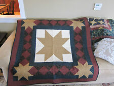 GORGEOUS Handmade Thimbleberries Finished Star Quilted Quilt 54 x 54