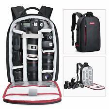 Beschoi Black Large Camera Backpack Bag Waterproof for SLR/DSLR Camera Lens