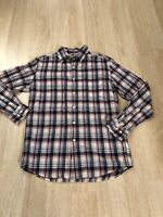 Uniqlo Men's Flannel Checked Long-Sleeve Button Down Shirt White Red Blue Sz S