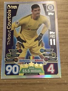 MATCH ATTAX 2017/18 THIBAUT COURTOIS PRO 11 CARD P6 MINT
