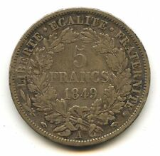 IInd REP 5 FRANCS 1849 A PARIS VARIETE MAIN ET MAIN !!!