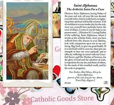 St Alphonsus with Prayer to St Alphonsus  - Paperstock Holy Card