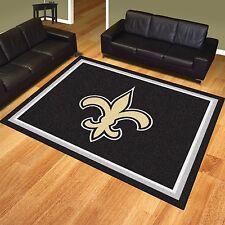 New Orleans Saints 8' X 10' Decorative Ultra Plush Carpet Area Rug
