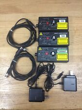 3x Monarch 6180-022 Smart Laser Sensor, Charger, and DIN Output Cables