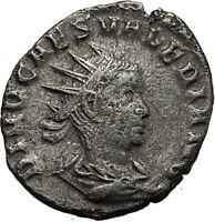 Divus VALERIAN II Roman Caesar CONSECRATIO Ancient Silver Roman Coin RARE i65426