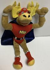 Vintage MM Wrestler Moose Plush Canada Super Hero Cape Stuffed Animal Rare