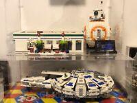 Lego display case for Lego Star Wars Kessel Run Millennium  Falcon 75212