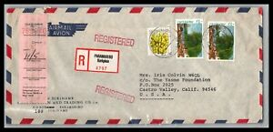 GP GOLDPATH: SURINAME COVER 1981 REGISTERED LETTER AIR MAIL _CV674_P14