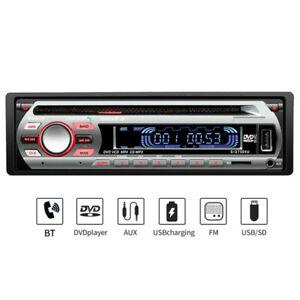 12V Single 1 DIN Car Stereo FM Radio Bluetooth DVD VCD CD MP3 hands-free In-dash