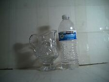"""LEAD CRYSTAL GLASS PITCHER 5 1/2""""tall x 4 1/2"""" wide"""