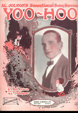 "AL JOLSON Sheet Music ""Yoo-Hoo"" 1921"