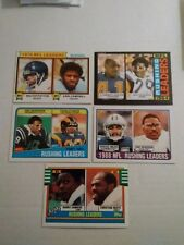 Topps Rushing Leaders Lot Walter Payton/Campbell Barry Sanders Dickerson see pic