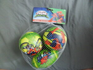 Marvel Ultimate Spider-Man Vs Sinister Six Sports Ball Set of 3 New Toy Gift