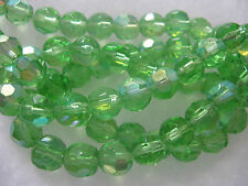36 Ab Green Glass Beads Jewelry Bead about 10mm Faceted Beads