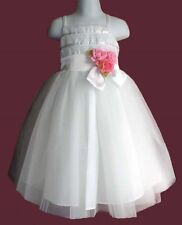 CLOSEOUT FLOWER GIRLS WEDDING PAGEANT WHITE  DRESS SIZE 4 SIZE 10