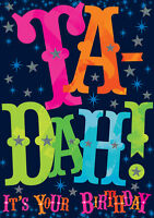 "Happy Birthday Card Ta Dah Design - 4.75"" x 6.75"" - GH0583"