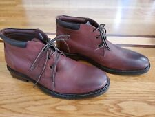 Johnston & Murphy Men's 9.5 Baird Chukka Boot Brown Oiled Full Grain Leather New