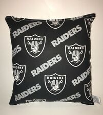 Raiders Pillow NFL Pillow Oakland Raiders Pillow Football Pillow HANDMADE In USA