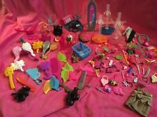 💜Massive Bundle Of Doll Accessories!! Stands, Brushes, Hats, Glasses Etc!💜
