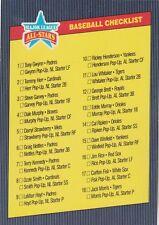 FREE SHIPPING-MINT- 1986 DONRUSS ALL STAR  CHECKLIST (3.5X5 CARD)