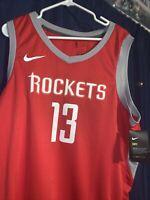 James Harden Houston Rockets Authentic Nike Jersey Swingman NBA Mens Size XXL