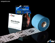 Ares Tape Precut Kinesiology Elastic Sports Tape - Blue - Pain Relief & Support