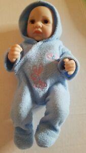 "Baby Born Anatomically Correct baby boy Doll eye lashes 10"" great shape"