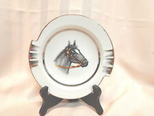 "Vintage Horsehead Ashtray/Plate,w/Gold Embossing,6.25"" Japan Sticker,Art Deco"