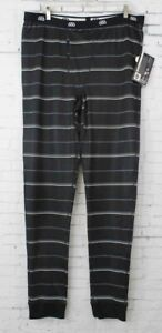New 686 Mens Twill Stripe Base Layer Pants XL Black