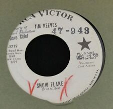 Jim Reeves RCA PROMO 8719 Snow Flake and Take My Hand Precious Lord