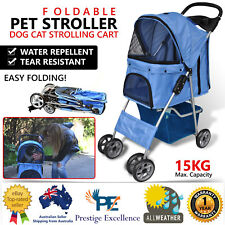 Pet Stroller Dog Cat Puppy Jogger Pushchair Travel Carrier Pram Buggy Wheels
